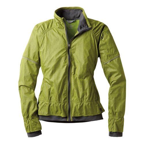 Womens Moving Comfort Sprint Running Jackets - Citrus Crosshatch M