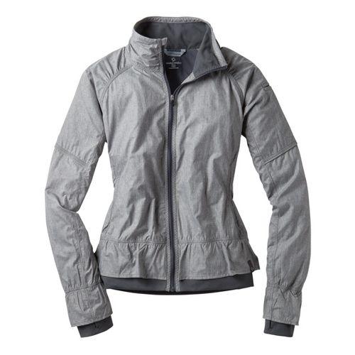 Womens Moving Comfort Sprint Running Jackets - Ebony Crosshatch XL