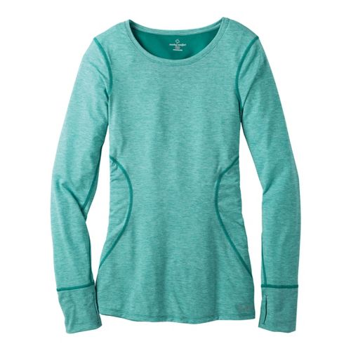 Womens Moving Comfort Endurance Long Sleeve No Zip Technical Tops - Luxe Heather M