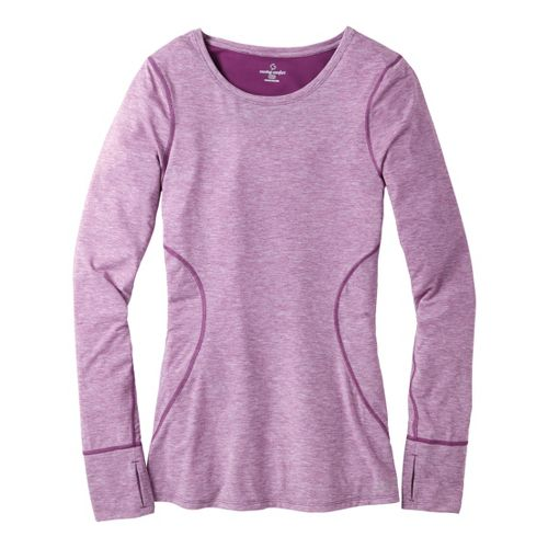 Womens Moving Comfort Endurance Long Sleeve No Zip Technical Tops - Velvet Heather L
