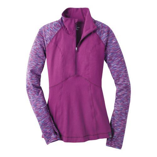 Womens Moving Comfort Foxie Long Sleeve 1/2 Zip Technical Tops - Velvet M