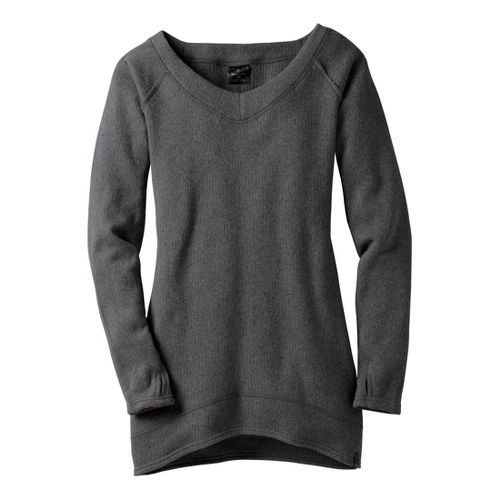 Womens Moving Comfort Gotta Love It Sweater Long Sleeve No Zip Technical Tops - Ebony ...
