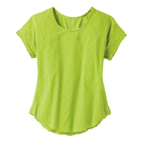 Womens Moving Comfort Metro Tee Short Sleeve Technical Tops - Citrus XS