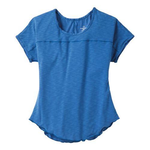 Womens Moving Comfort Metro Tee Short Sleeve Technical Tops - Cosmic L