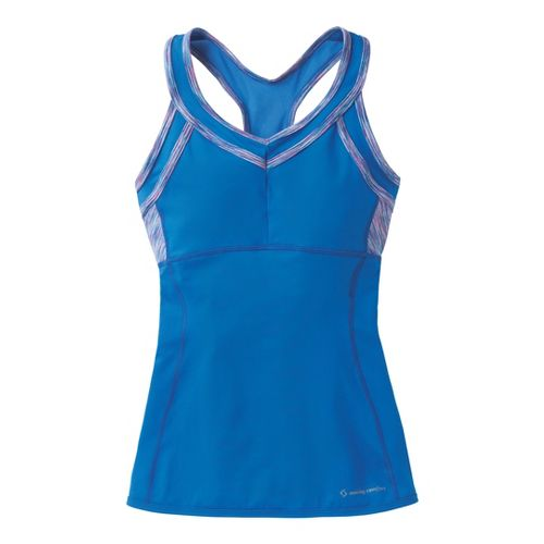 Womens Moving Comfort Foxie Tanks Technical Tops - Cosmic L