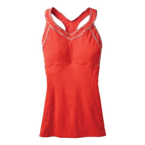 Womens Moving Comfort Foxie Tanks Technical Tops - Red Hot S