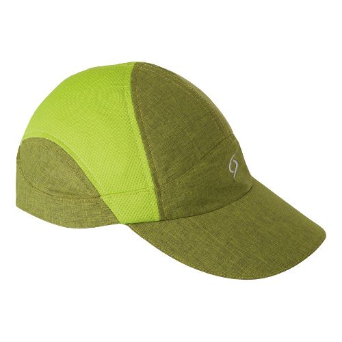Womens Moving Comfort MC Run Hat Headwear - Citrus Crosshatch