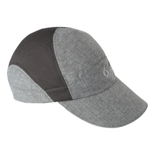 Womens Moving Comfort MC Run Hat Headwear - Ebony Crosshatch