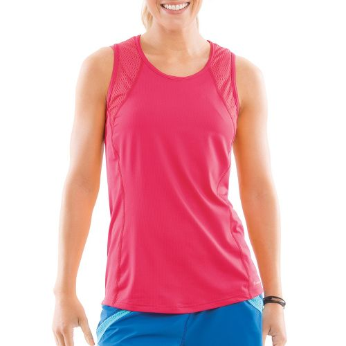 Womens Moving Comfort Dash Sleeveless Technical Tops - Pink Shock L