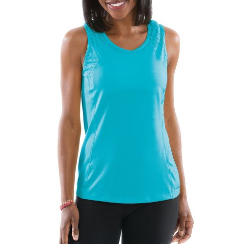 Womens Moving Comfort Dash Sleeveless Technical Tops - Stardust XL