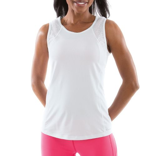 Womens Moving Comfort Dash Sleeveless Technical Tops - White S