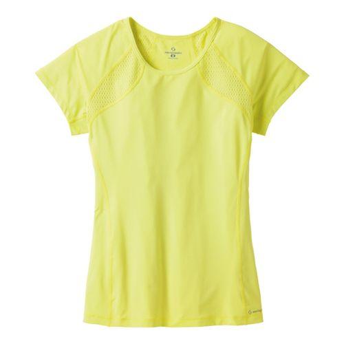 Womens Moving Comfort Dash Tee Short Sleeve Technical Tops - Flash XS
