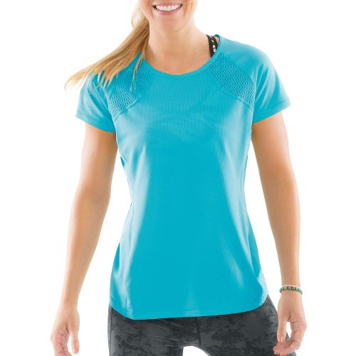 Womens Moving Comfort Dash Tee Short Sleeve Technical Tops - Stardust L