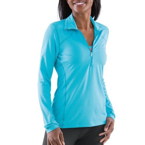 Womens Moving Comfort Dash Long Sleeve 1/2 Zip Technical Tops - Stardust 2X