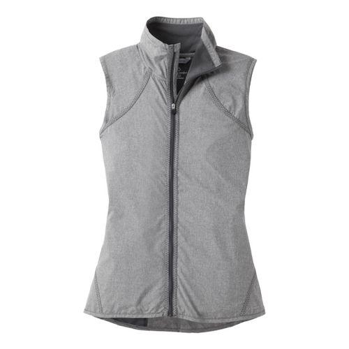 Womens Moving Comfort Sprint Wind Running Vests - Ebony Crosshatch 2X