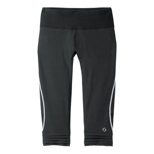 Womens Moving Comfort Sprint Tech Capri Tights - Black XS