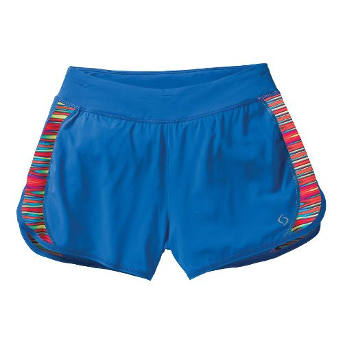 Womens Moving Comfort Dash Lined Shorts - Cosmic L