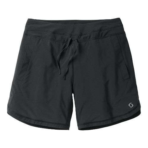 Womens Moving Comfort Work It Lined Shorts - Black M