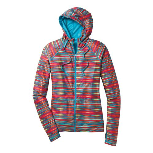 Womens Moving Comfort Switch It Up Hoodie Running Jackets - Rainbow S