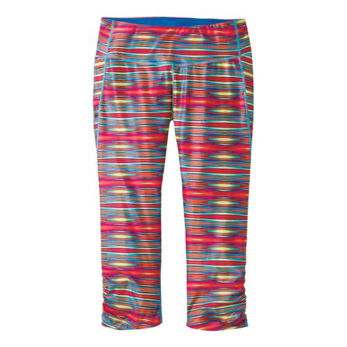 Womens Moving Comfort Switch It Up Capri Tights - Rainbow M