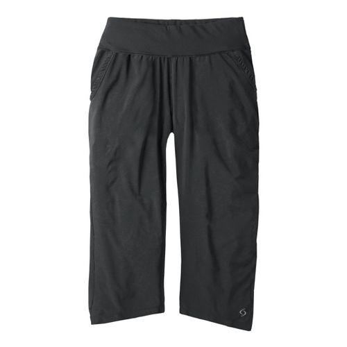 Womens Moving Comfort Metro Capri Pants - Black XL
