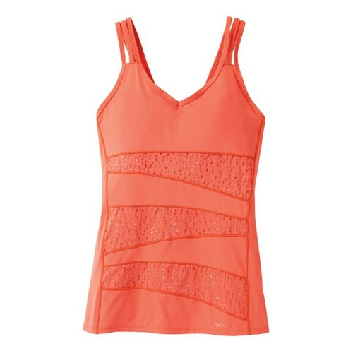 Womens Moving Comfort Hot Shot Tanks Technical Tops - Flame M