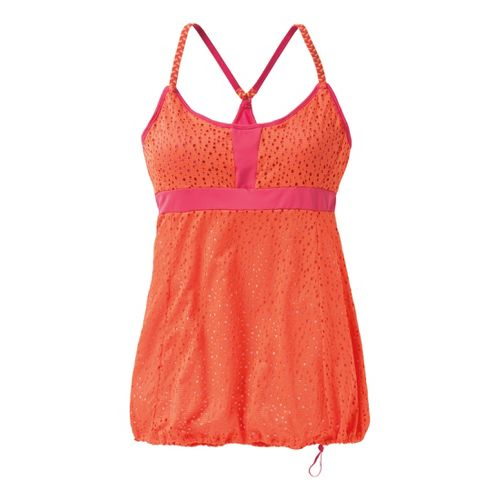 Womens Moving Comfort Serendipity Tank Sport Top Bras - Flame M