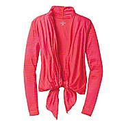 Womens Moving Comfort Flaunt It Wrap Long Sleeve No Zip Technical Tops