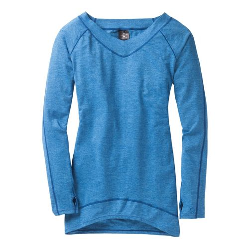 Womens Moving Comfort Gotta Love It Tunic Long Sleeve No Zip Technical Tops - Cosmic ...