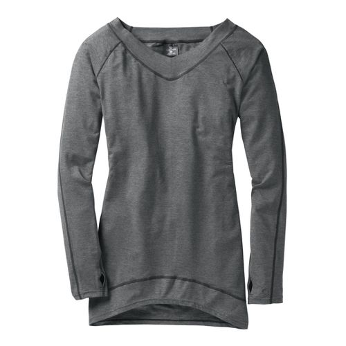 Womens Moving Comfort Gotta Love It Tunic Long Sleeve No Zip Technical Tops - Ebony ...