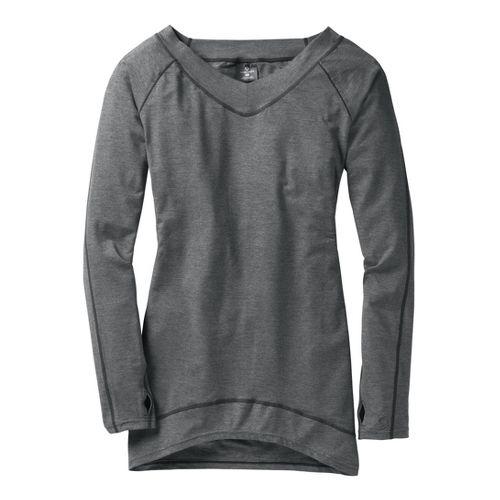 Womens Moving Comfort Gotta Love It Tunic Long Sleeve No Zip Technical Tops - Ebony ...