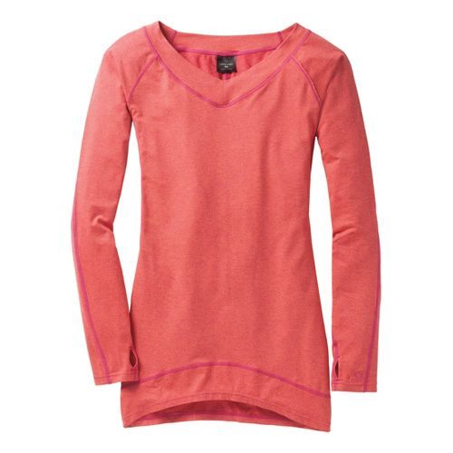 Womens Moving Comfort Gotta Love It Tunic Long Sleeve No Zip Technical Tops - Pixie ...