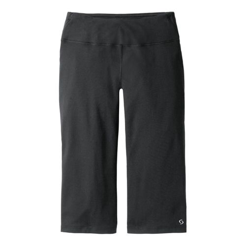 Womens Moving Comfort Fearless Capri Pants - Black 1X