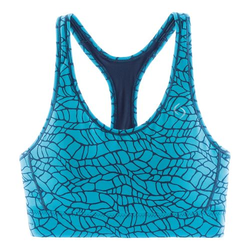 Womens Moving Comfort Switch It Up Racer Sports Bras - Azure Woven XS