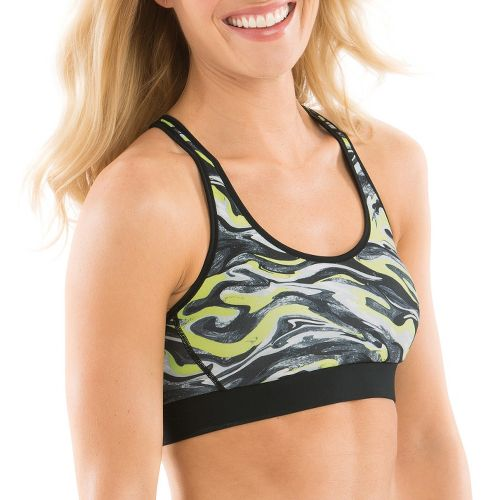 Womens Moving Comfort Switch It Up Racer Sports Bras - Flash Swirl L