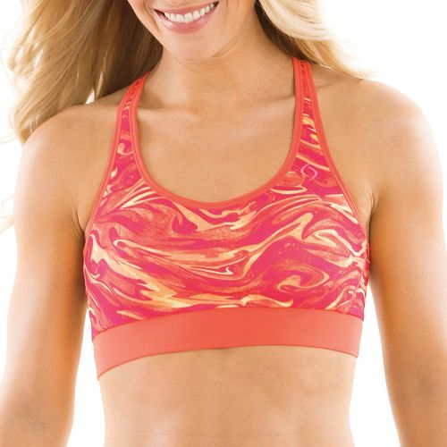Womens Moving Comfort Switch It Up Racer Sports Bras - Pixie Swirl L