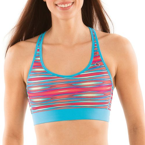 Womens Moving Comfort Switch It Up Racer Sports Bras - Rainbow S