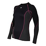 Womens Mizuno Breath Thermo Stretch Crew Long Sleeve No Zip Technical Tops