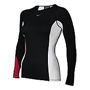 Womens Mizuno Breath Thermo Dynamotion Crew Long Sleeve No Zip Technical Tops