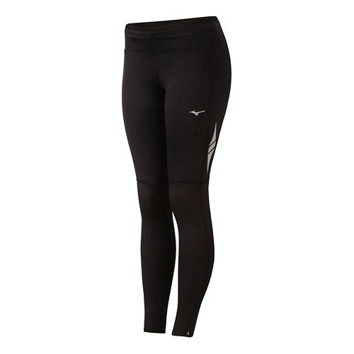 Womens Mizuno BT Layered Fitted Tights - Black/Charcoal L