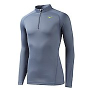 Mens Mizuno BT Base Layer Long Sleeve 1/2 Zip Technical Tops