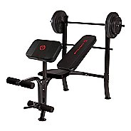 Marcy OPP Standard Bench with 80 lb Weight Set Fitness Equipment