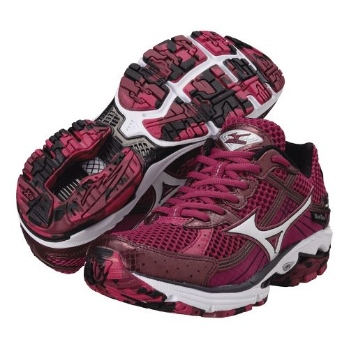 Womens Mizuno Wave Rider 15 Running Shoe - Fuschia 10