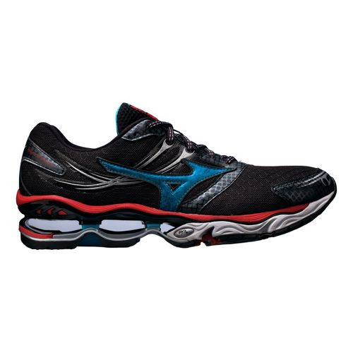 Mens Mizuno Wave Creation 14 Running Shoe - Black/Blue 14