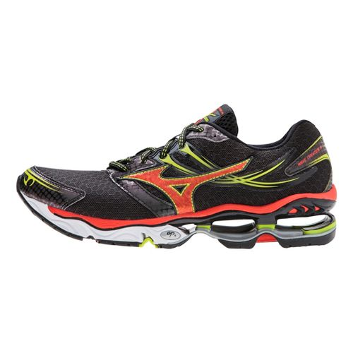 Mens Mizuno Wave Creation 14 Running Shoe - Black/Orange 14