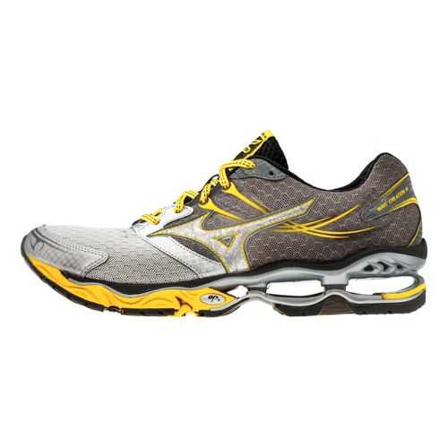 Mens Mizuno Wave Creation 14 Running Shoe - Grey/Yellow 11.5
