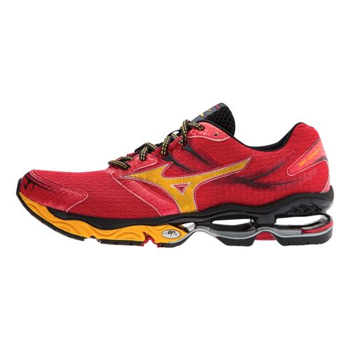 Mens Mizuno Wave Creation 14 Running Shoe - Red/Yellow 12.5