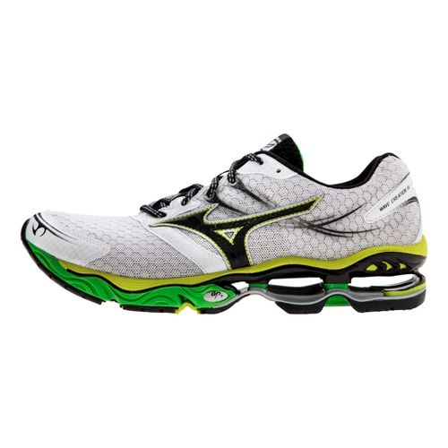Mens Mizuno Wave Creation 14 Running Shoe - White/Green 11.5