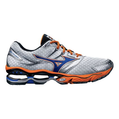 Mens Mizuno Wave Creation 14 Running Shoe - White/Orange 12