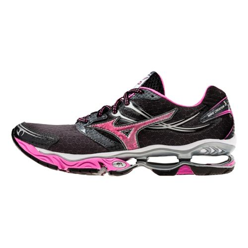 Womens Mizuno Wave Creation 14 Running Shoe - Black/Charcoal 10.5